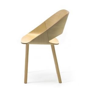 Kabira 4WL, Design chair in wood