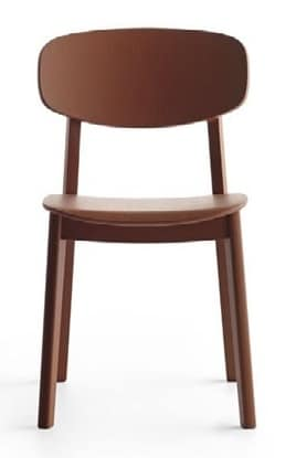 Lene R/VS, Chair without armrests in solid wood