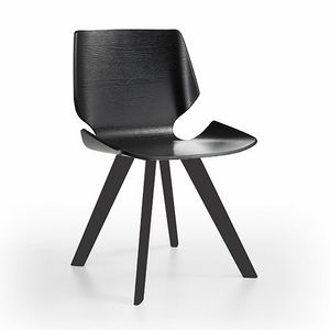 Linz-K, Wooden chair with refined shell