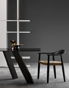 Odyssee, Modern chair with straw seat suited for bars and residential environments