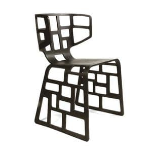 Ol�, Design chair with original shapes, drilled shell