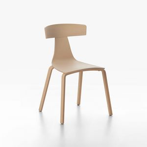 Remo mod. 1415-10 / 1415-20, Stackable chair, high design, made of plywood