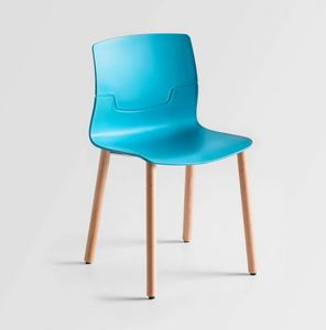 Slot Fill BL, Chair with beech wood legs, polymer shell
