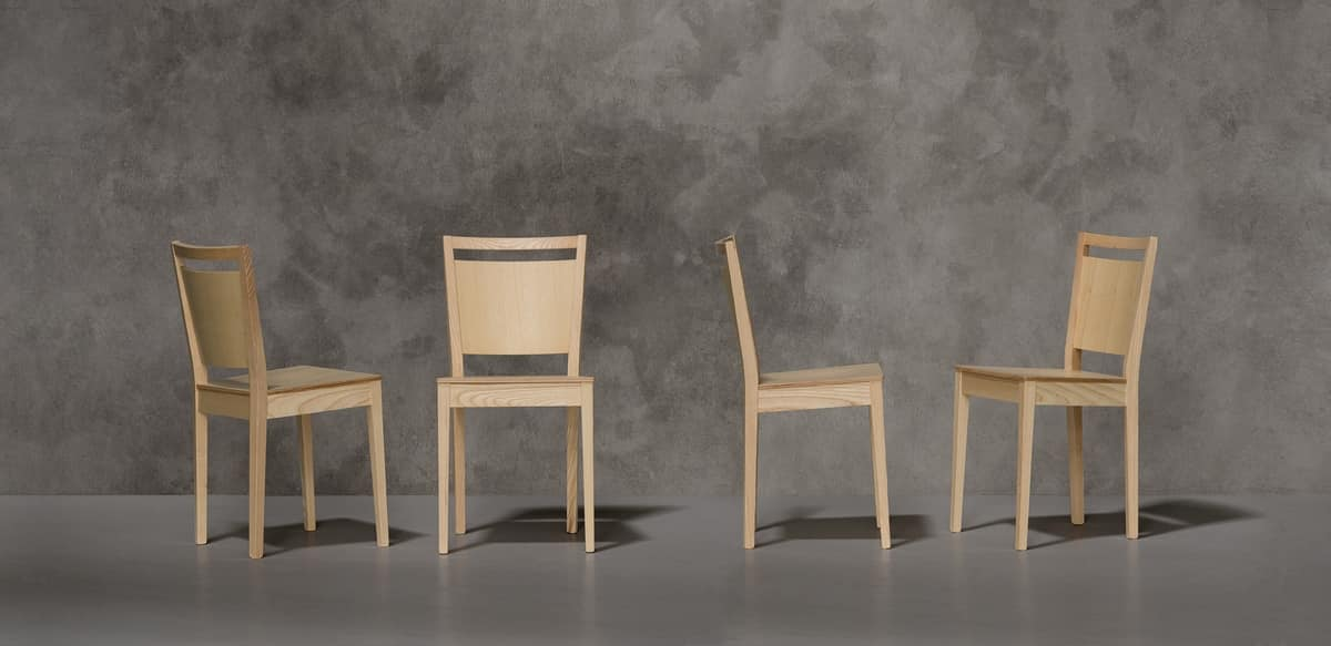 TREVISO, Modern chair in ash wood
