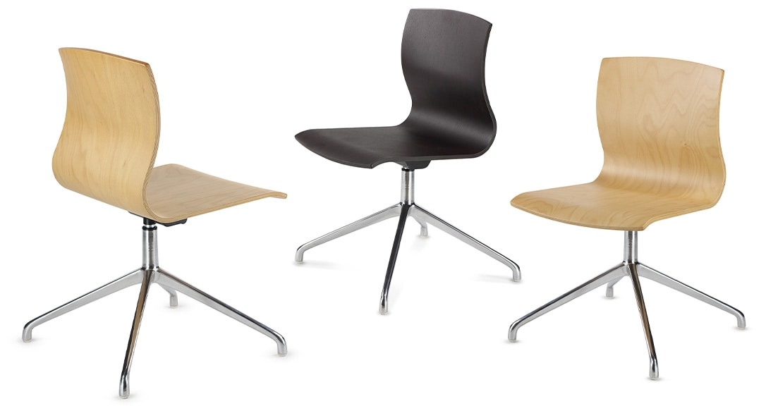 WEBWOOD 368, Chair with wooden back