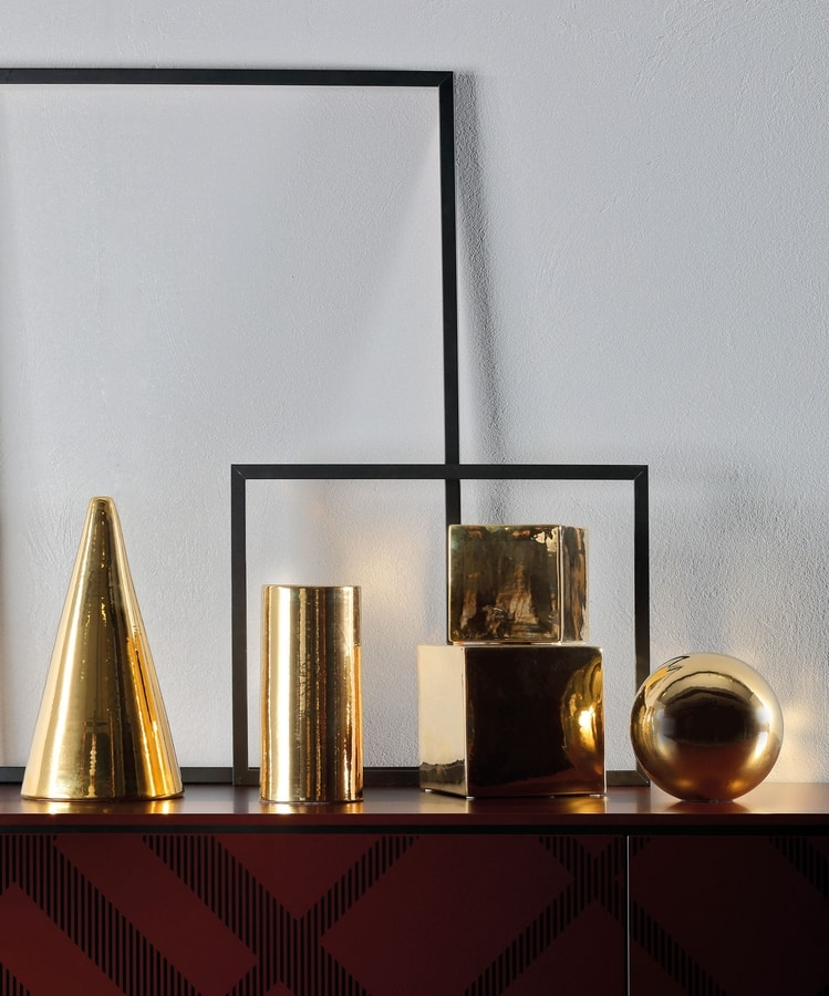 GEOMETRIC, Decorative cones, spheres and cubes