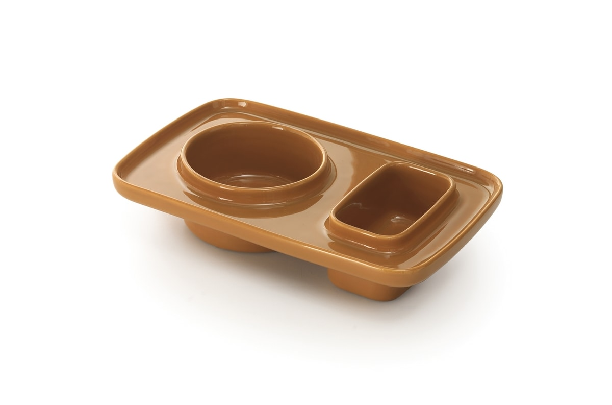 Plat, Multifunctional object in colored stoneware