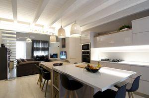 Eva kitchen, Modern kitchen without handles