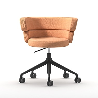 Dam HO, Home-office chair, swivel on wheels, with comfortable padded seat