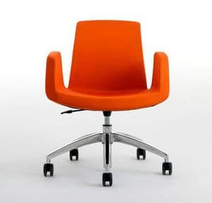JOLLY with castors, Comfortable office chair, swivel and adjustable in height