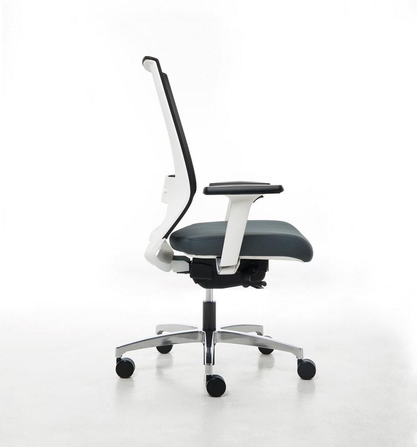 Logica White 01, White office chair