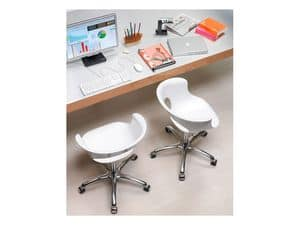 Miss b office, Swivel chair, adjustable height, with wheels