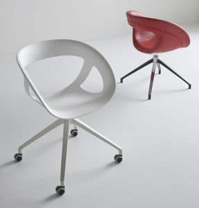 Moema UR, Office swivel chair, with 4 wheels