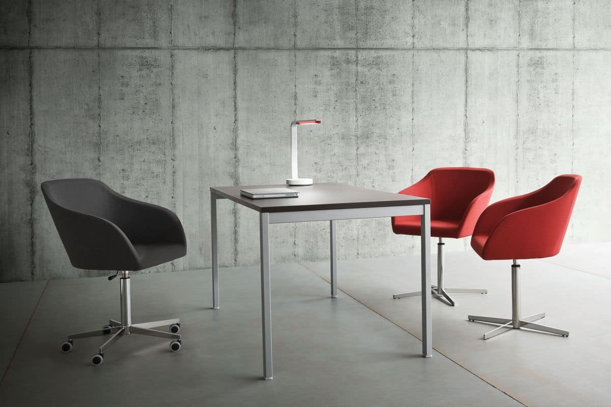 Plaza 5R, Chair with metal base, gas lift, for office