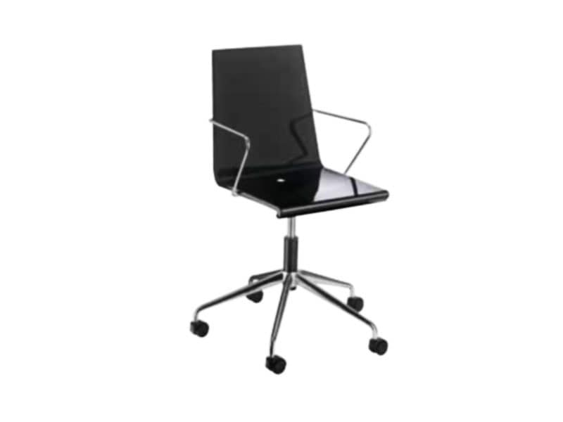 Snake 46/5R, Office chair with wheels, glossy plastic shell