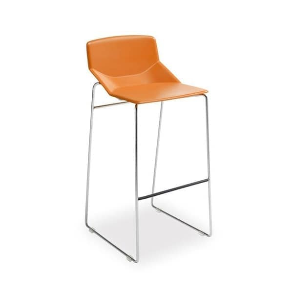 Formula tech ST h75 h65, Metal stool, polyurethane seat, for modern bar