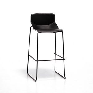 Formula tech ST h75 h65, Metal stool, polyurethane seat, for modern bar