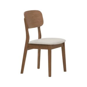 2961, Wooden chair with upholstered seat