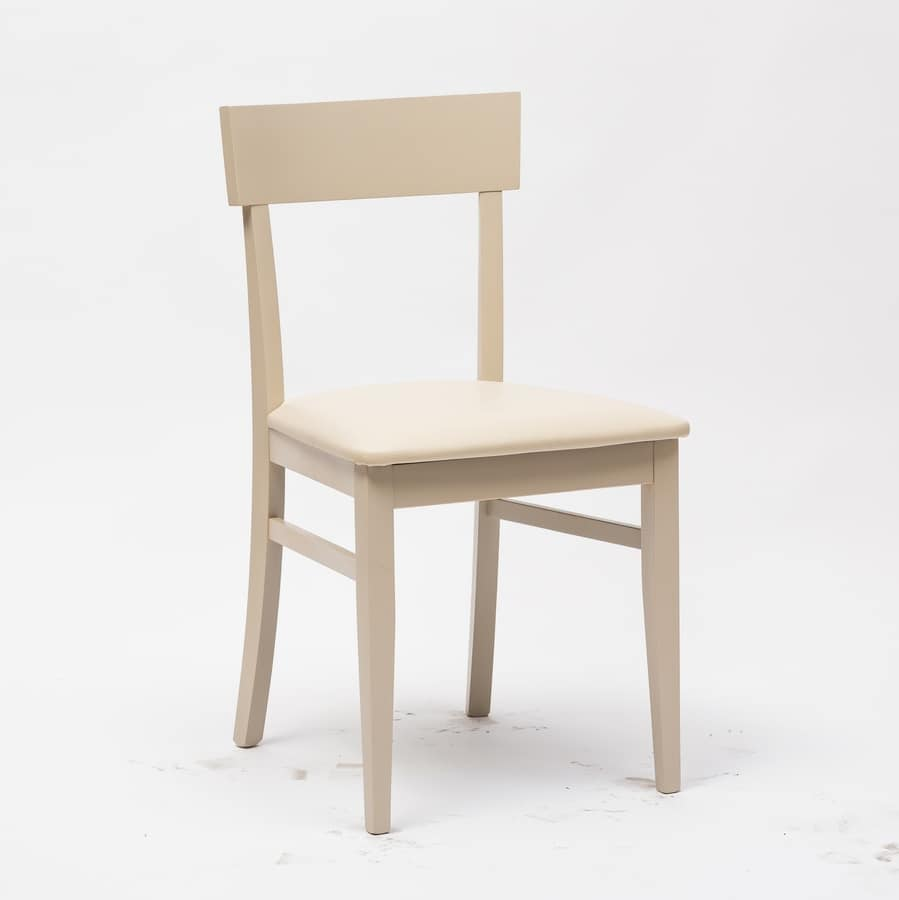 Art. 095 New Age, Wooden chair, for bar restaurant and residential use