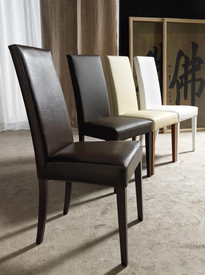 Art. 120 Vertigo Lux, Chair for dining room, padded, customizable finishes