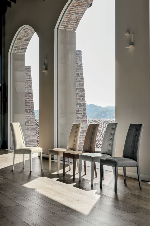BELLINZONA SE507, Elegant dining chair with a high backrest