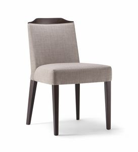 BOSTON SIDE CHAIR 010 S, Upholstered chair with a refined design