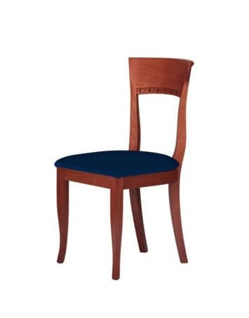 C17, Simple chair in solid wood, for contract environments