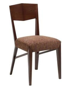 C31, Wooden chair with padded seat, covered in fabric, for contract use