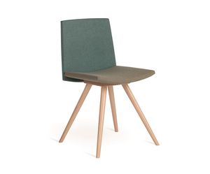 Flag-W, Chair with wooden legs