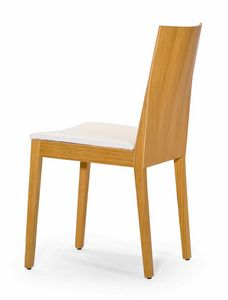Luna UPH seat, Wooden chair with strict shapes