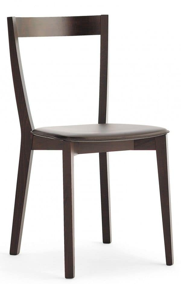 M22, Wooden chair, padded seat, for restaurants and bars