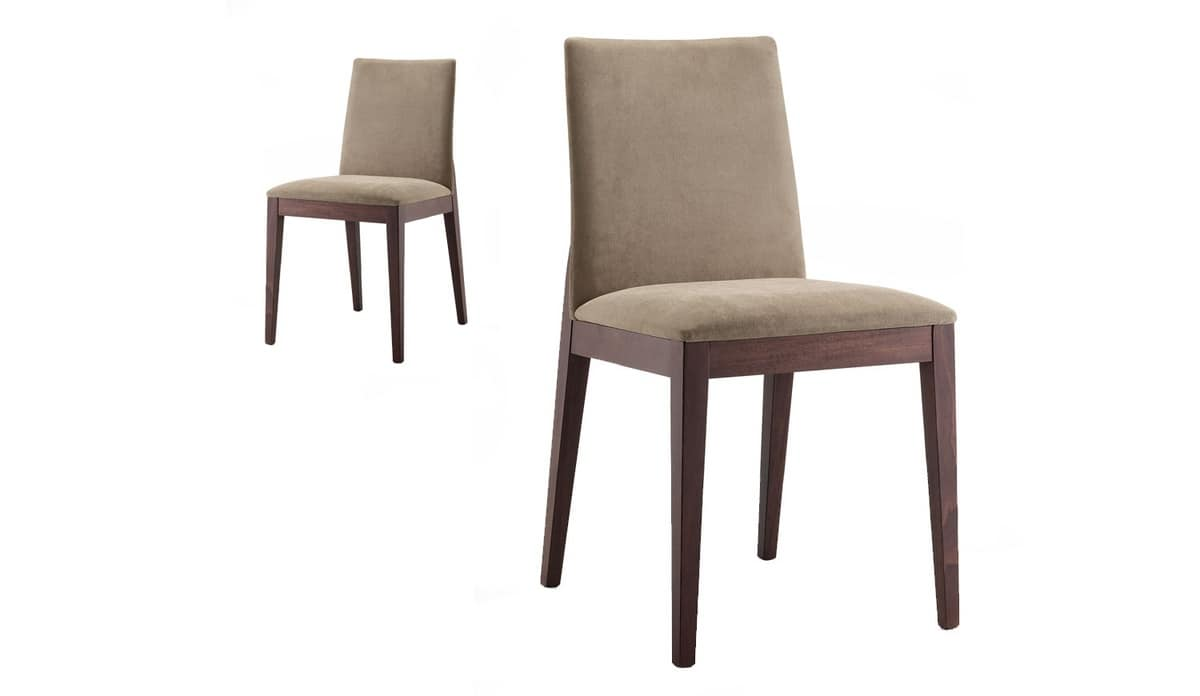 Mary, Chair with clean design for dining room