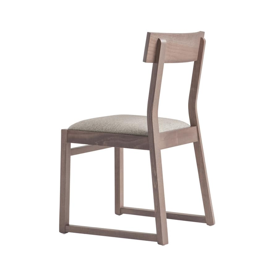 MP439B, Wooden chair with sled base