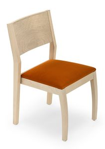 Omega stackable, Stackable wooden chair