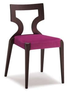 SE 152 / 1, Stackable chair in beech, upholstered seat, for hotels