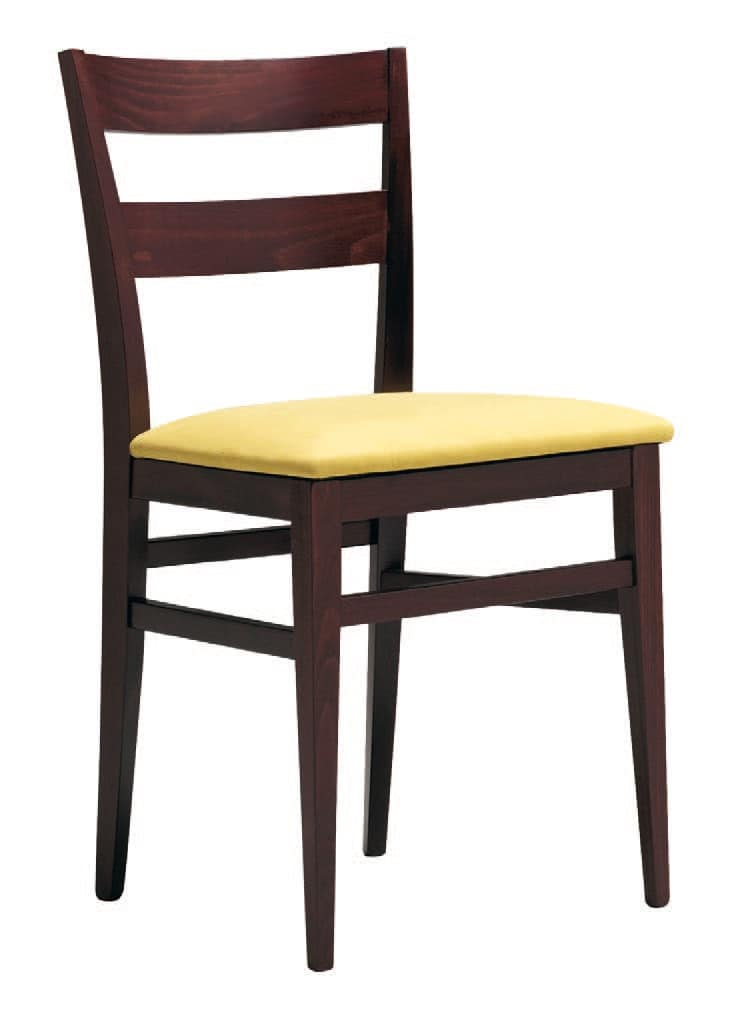 SE 47 / B, Wooden chair with padded seat, for hotels