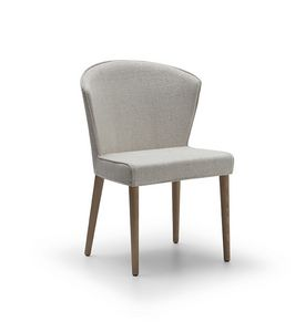 Chair Coco 090, Upholstered chair with colored wooden legs