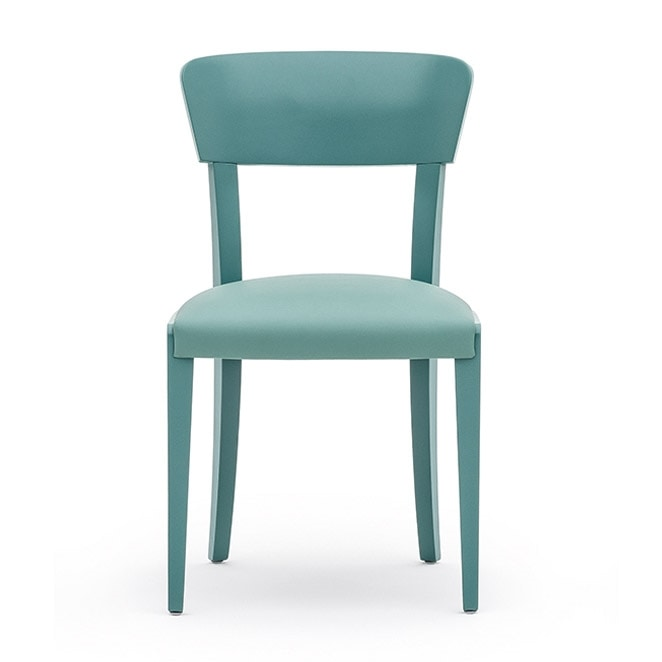 Steffy 00411, Chair in solid wood, upholstered seat, modern style