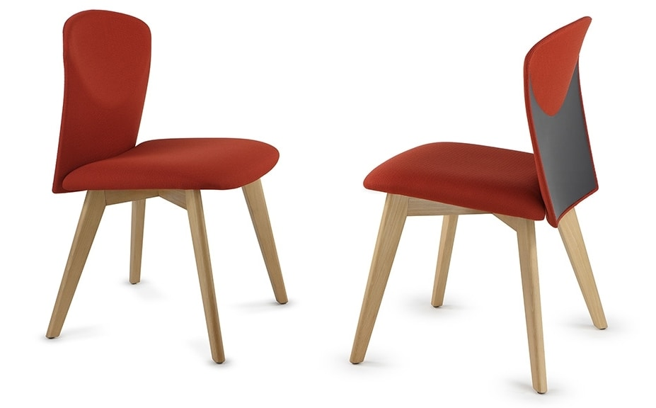 VULCAN 1290Z, Chair upholstered in fabric