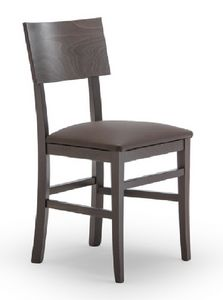 165, Chair in beech wood, for contract use