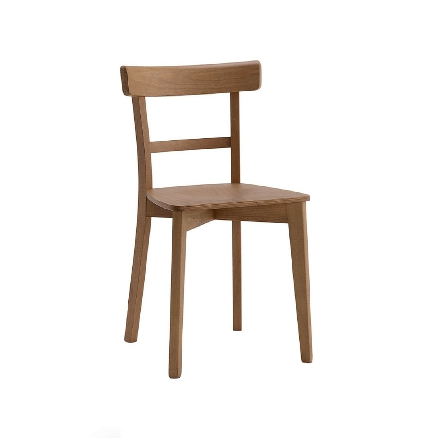 370, Wooden chair with a simple design