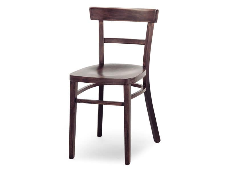 A4, Wooden chair without armrests, for bars and restaurants