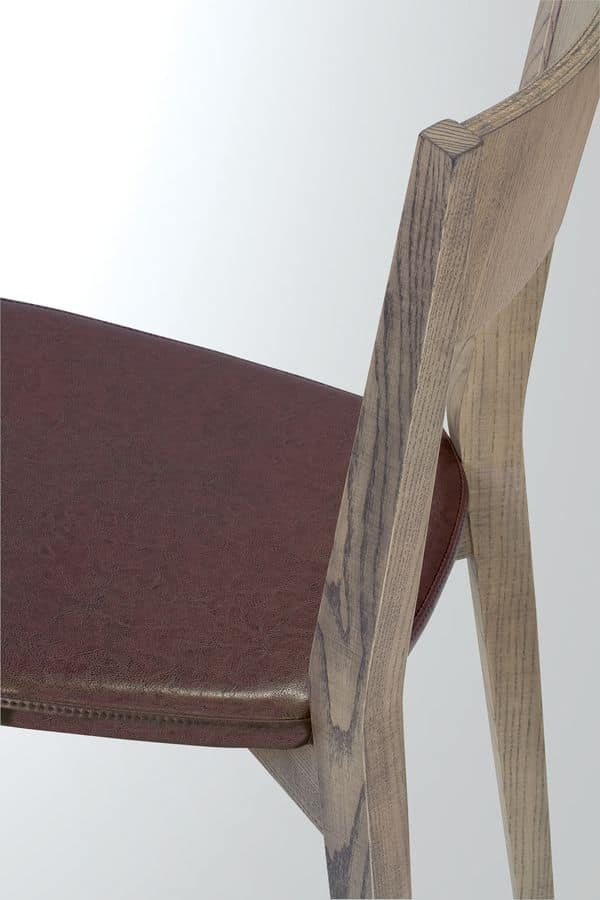 Alice, Chair in solid oak, essential style