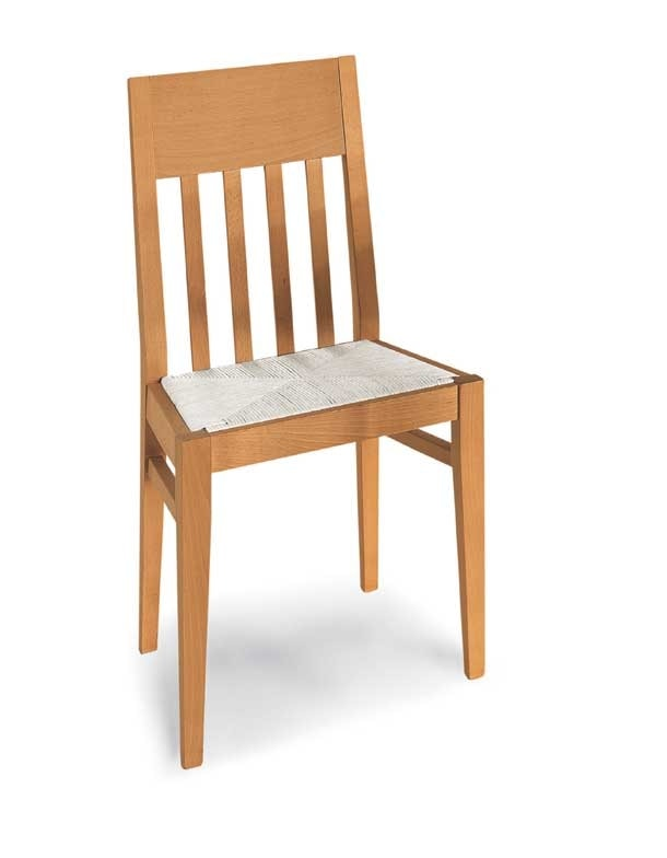 Art. 191/S, Wooden chair, with straw seat
