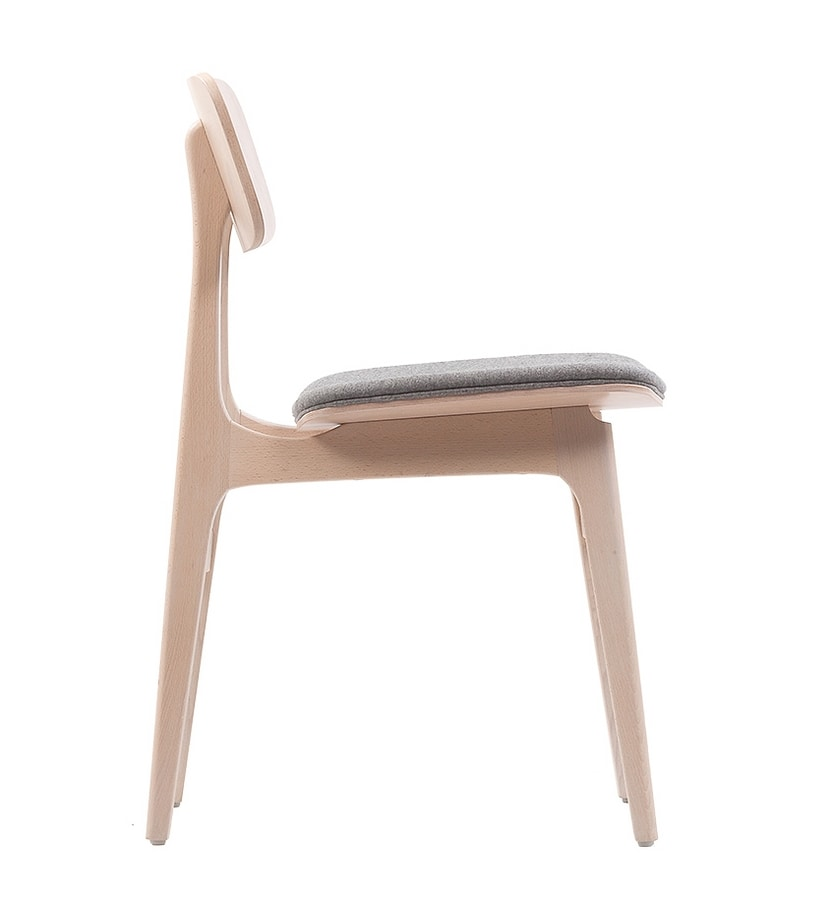 ART. 309-IM ROSE, Wooden chair with padded seat
