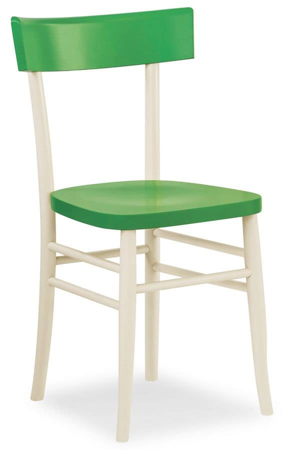 B09, Linear wooden chair, for bars and restaurants