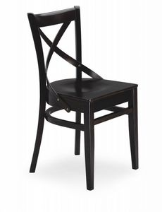 B12, Wooden chair with cross back