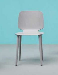 Babila, Elegant and modern chair in wood