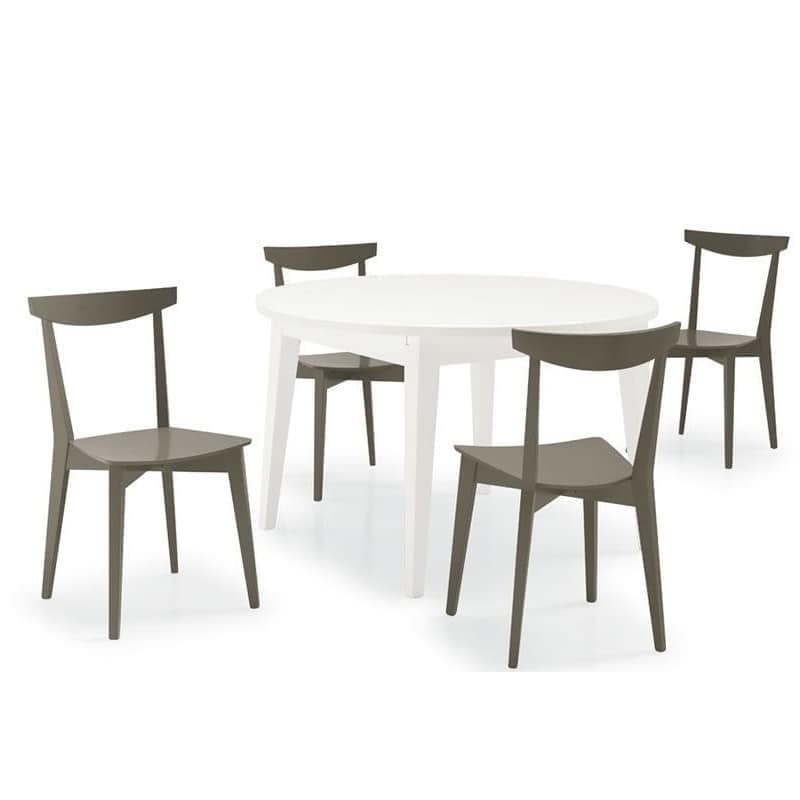 Barù, Linear chair made entirely of beech, for bars and taverns