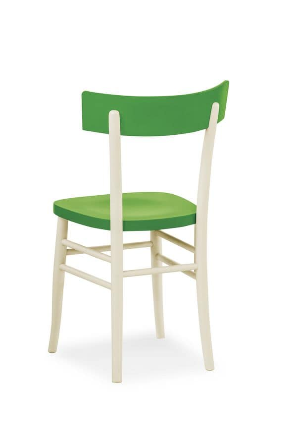 Bicolour, Chair in beech various colors